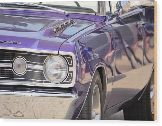 Purple Mopar Wood Print