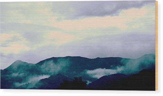 Purple Mountains Majesty Blue Ridge Mountains Wood Print