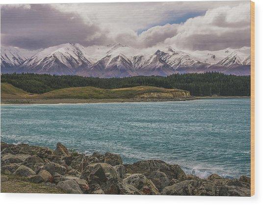 Purple Mountain's Majesty Wood Print