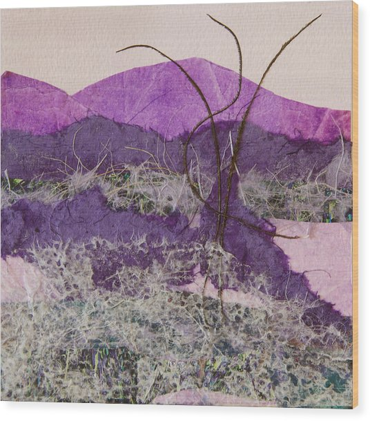 Purple Mountains Wood Print by Pamela Ramey Tatum