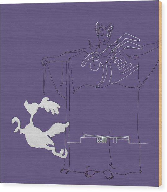 Purple Palm Springs Idyll Wood Print