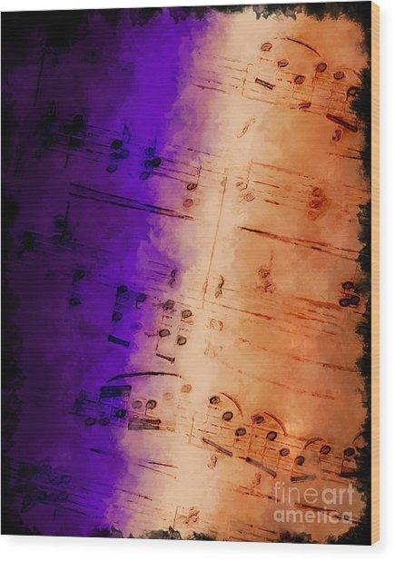 Purple Phrase Wood Print