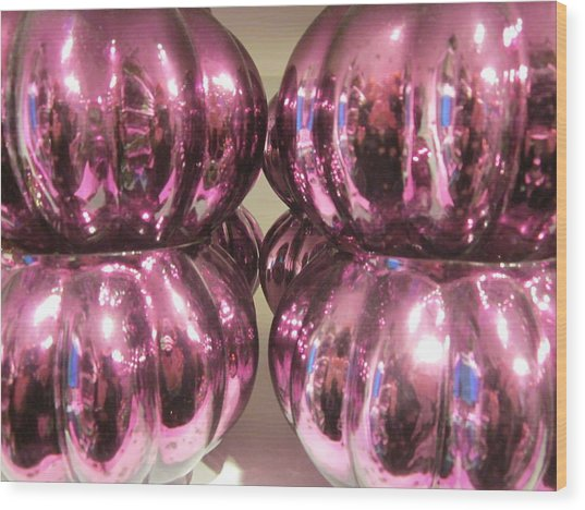 Purple Reflection Wood Print