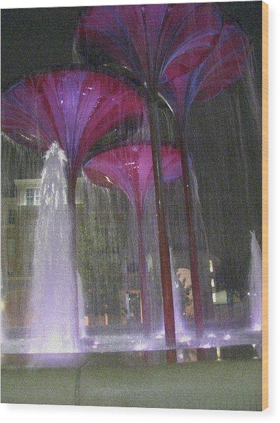 Purple Reign Texas Christian University Wood Print