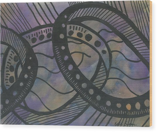 Purple Rings Wood Print
