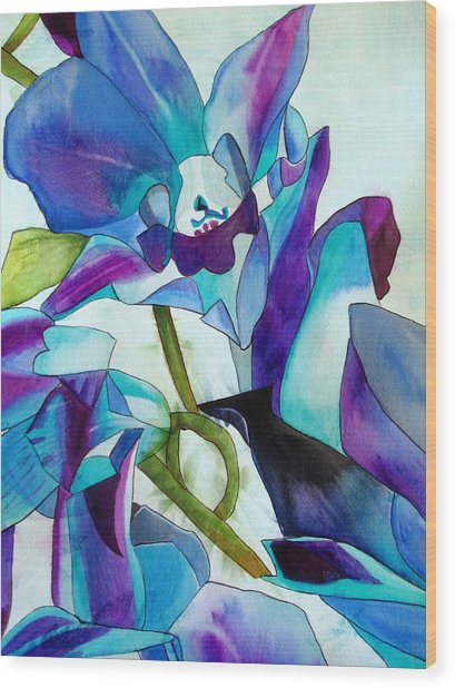 Purple Singapore Orchids Wood Print by Sacha Grossel