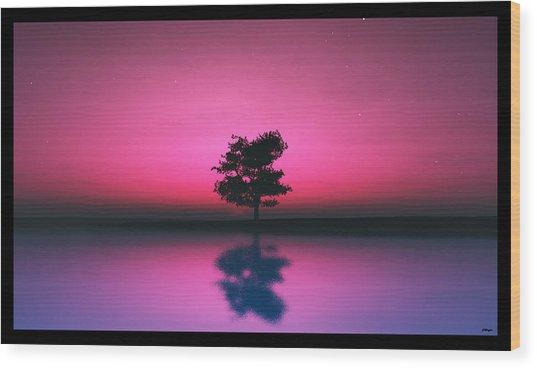 Purple Sky... Wood Print