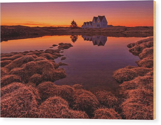 Purple Sunset Wood Print by Bragi Ingibergsson -