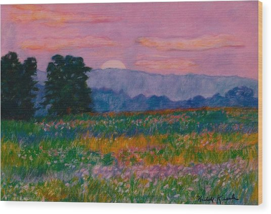 Purple Sunset On The Blue Ridge Wood Print