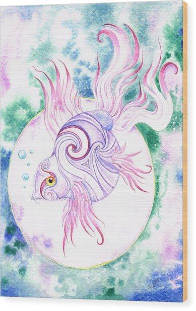 Purple Swirled Fairy Fish Painting By Heather Bradley