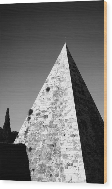 Pyramid Of Cestius Wood Print