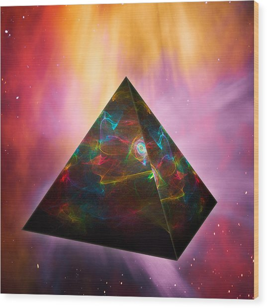 Pyramid Of Souls Wood Print