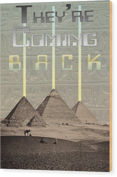 Pyramids Ufo Landing Site Wood Print by