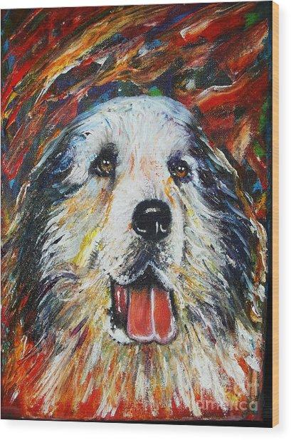 Pyrenean Mountain Dog Wood Print by Anastasis  Anastasi