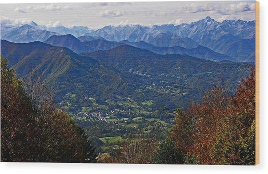 Pyrenean View Wood Print
