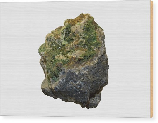 Pyromorphite Specimen Wood Print by Science Stock Photography/science Photo Library