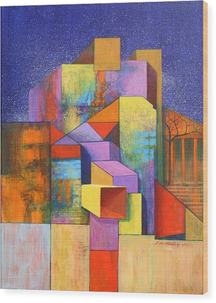 Pythagoras Revisited Wood Print by J W Kelly