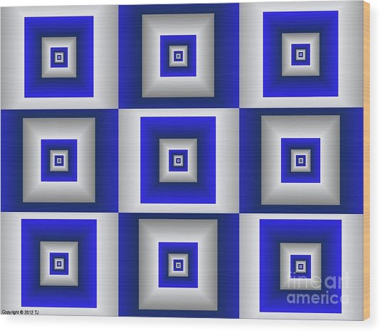 Quadrant 10 Wood Print