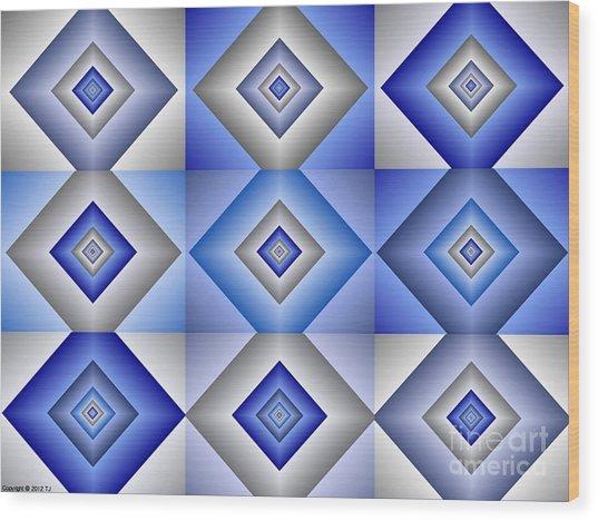 Quadrant  3 Wood Print