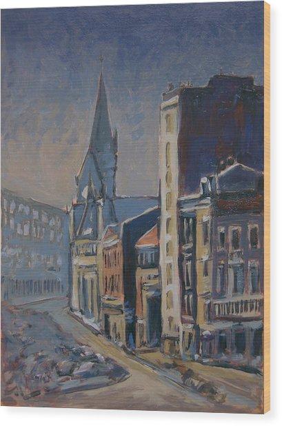 Quai-sur-meuse Liege Wood Print