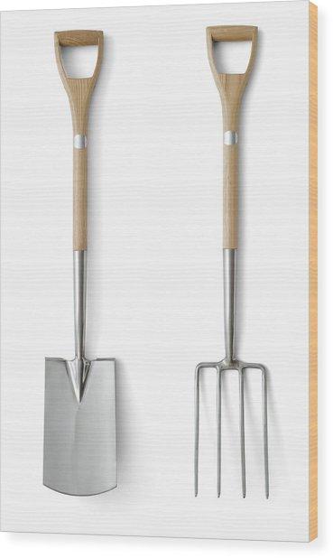 Quality Garden Tools Wood Print