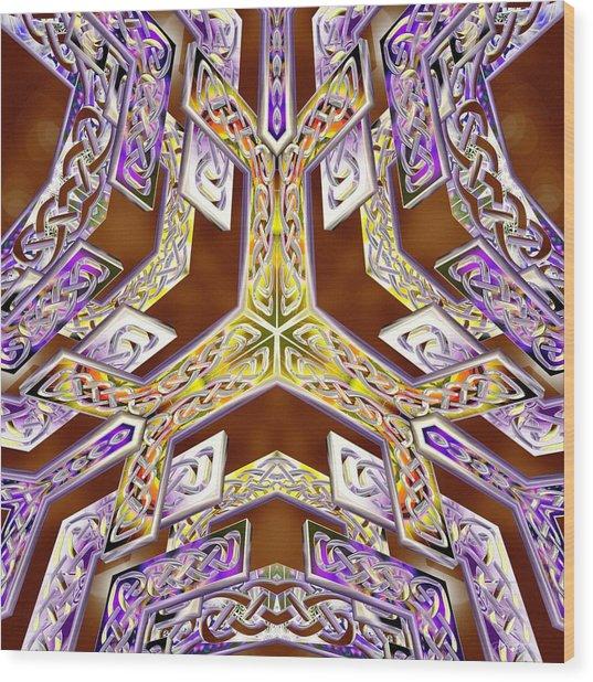Wood Print featuring the digital art Quantum Legacy by Derek Gedney