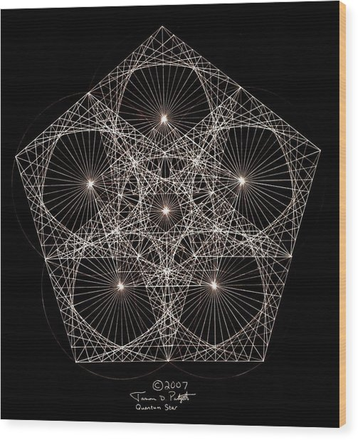 Quantum Star II Wood Print
