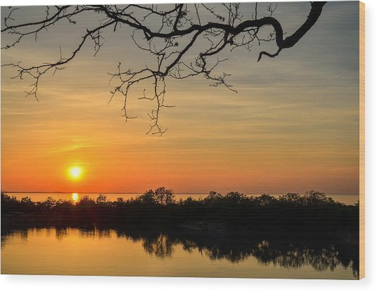 Quarry Sunset Wood Print