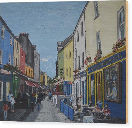 Quay St Galway Ireland Wood Print