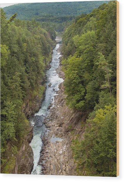 Quechee Gorge State Park Wood Print