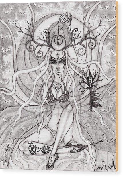 Queen Aeranelii Wood Print by Coriander  Shea