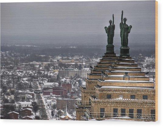 Queen City Winter Wonderland After The Storm Series 0013 Wood Print