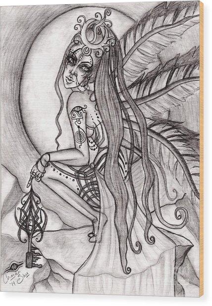 Queen I' Eloraii Wood Print by Coriander  Shea