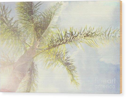Queen Palm Wood Print