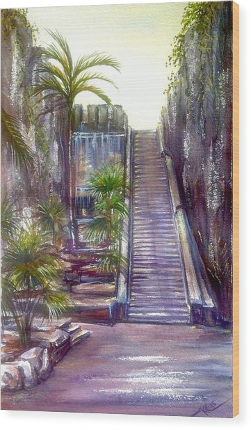 Queen's Staircase Wood Print
