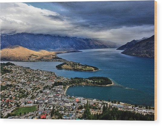 Queenstown New Zealand Wood Print