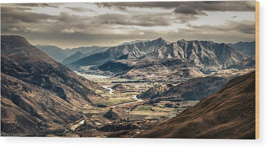 Queenstown View Wood Print