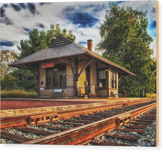 Queponco Railway Station Wood Print