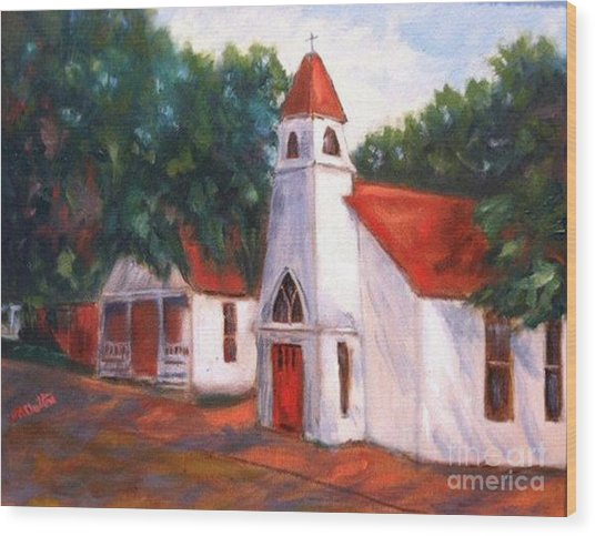 Quiant Arkansas Church Wood Print