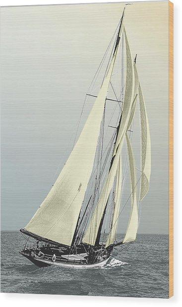 Quickstep - Schooner Yacht Wood Print