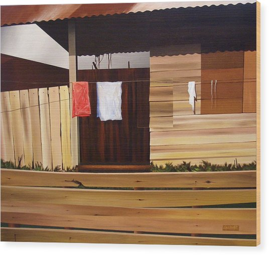 Quiet Afternoon Wood Print by Laurend Doumba