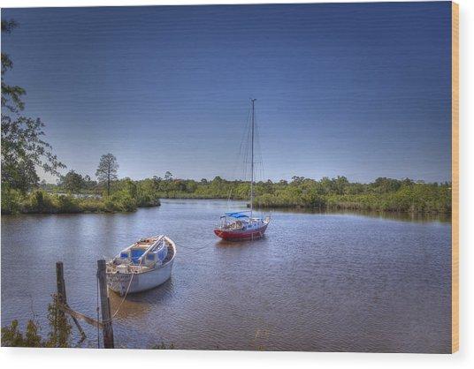 Quiet Cove Wood Print by Barry Jones