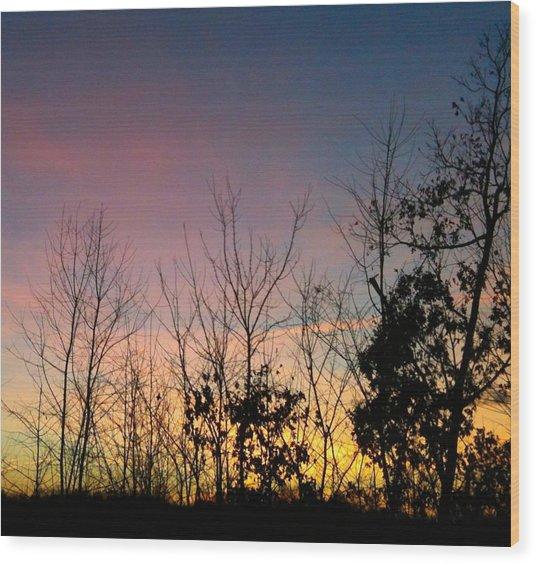 Quiet Evening Wood Print