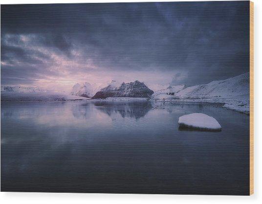 Quiet Frost Light II Wood Print