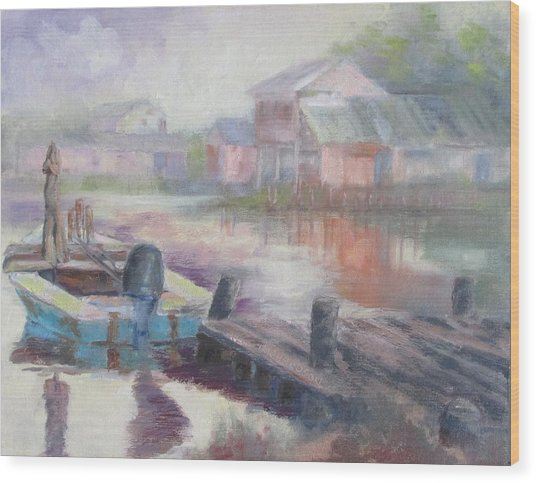 Quiet Morning In East Point Wood Print by Susan Richardson
