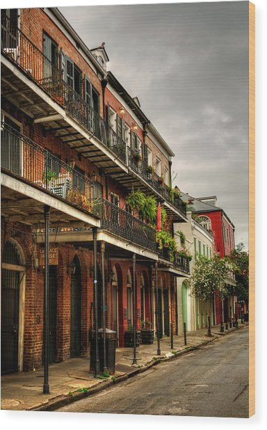 Quiet Morning In The French Quarter Wood Print