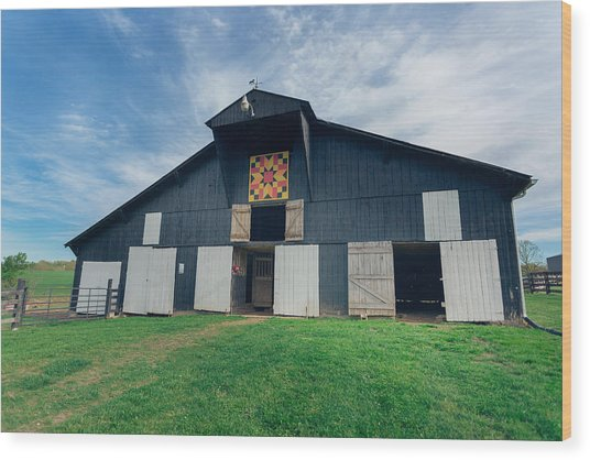 Quilted Barn Wood Print