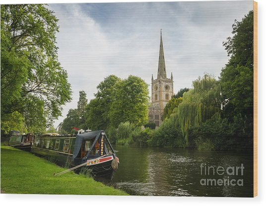 Quintessential English Countryside At Stratford-upon-avon Wood Print by OUAP Photography