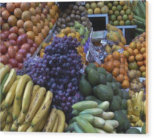 Quito Ecuador Market 1 Wood Print