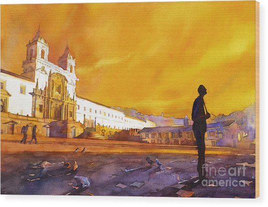 Quito Sunrise Wood Print